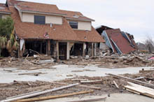 Homes Damaged by Hurricane Katrina